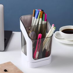 라이키 투명 펜 연필 꽂이 정리함
