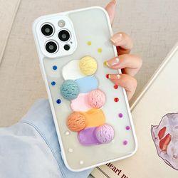 아이폰12 11 XR SE2 8 스쿱 아이스크림 클리어 케이스