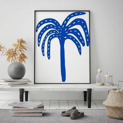 미드 센추리 모던 액자 Blue Hawaii Palm 캔버스 10호
