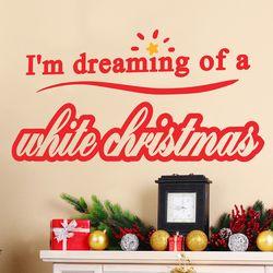 Dreaming white christmas 겨울 크리스마스 레터링 스티커