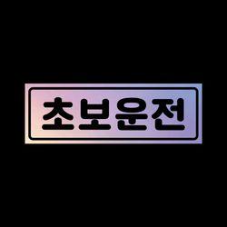초보운전 탈부착자석스티커 홀로그램 LMCM-009 동글 초보