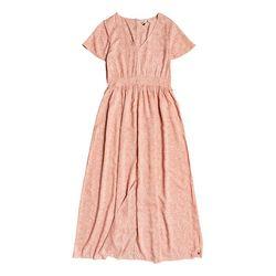 록시 여성 핑크 도트프린팅 롱 원피스 드레스 (RA21DR149MJ5)(NEWUX92CCY)
