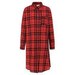 록시 여성 레드 타탄체크 원피스 셔츠 (R911SH110RED)(NEWG33FYWA)