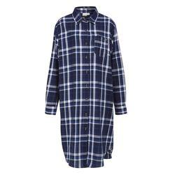 록시 여성 네이비 타탄체크 원피스 셔츠 (R911SH110NVY)(NEWFCRKN2K)