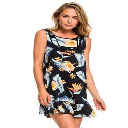 록시 여성 플라워프린팅 슬리브리스 숏 원피스 드레스 (R921DR137KV7)(NEWM5YYOAB)