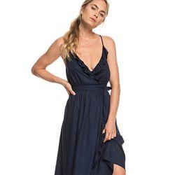 록시 여성 블랙 슬리브리스 원피스 드레스 (R921DR070BTK)(NEW1ND5WVM)
