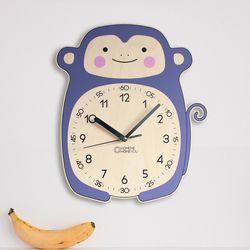 원숭이 어린이 감성 무소음 교육용 벽시계 몽니