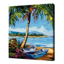 [명화그리기]4050 타히티 작은 바닷가 28색 풍경화