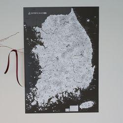 전국 여행지도 포스터 블랙or그레이 - 대한민국지도
