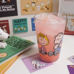 피너츠 스누피 점보컵 대용량 투명 500잔 맥주컵
