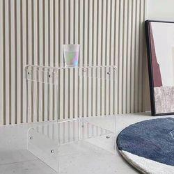 투명 아크릴 협탁 침대 옆 사이드테이블 수납장 소형 작은