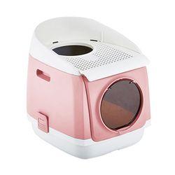 톰캣 프리캐빈 하우스형 고양이 화장실 - 핑크