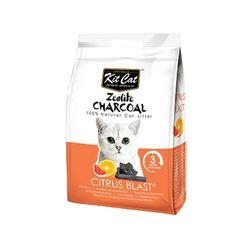 고양이화장실모래 킷캣 제오라이트 모래 - 감귤향