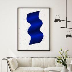 미드 센추리 모던 액자 Deep Blue Flow 캔버스 10호