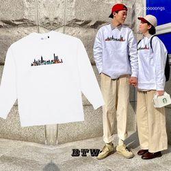시티 댓 네버 슬립 스웨트 셔츠 (화이트)
