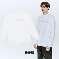 타이포그래피티 긴팔 스웨트 셔츠 (화이트)