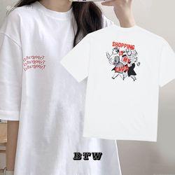 타이포그래피티 반팔 티셔츠 (화이트)