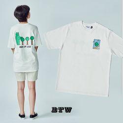 [작가ooo x 비토우] MINEUS MOVEMENT T-SHIRTS (White)