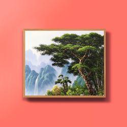 캔버스액자 건승의소나무 부자되는그림 그림선물 12호