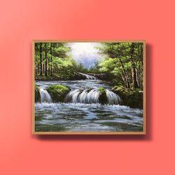 캔버스액자 풍요의계곡 돈들어오는그림 그림선물 12호