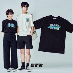 [작가ooo x 비토우] MINEUS MOVEMENT T-SHIRTS (Black)