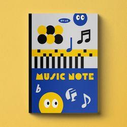 음악노트 음악공책 오선지노트 오선노트 초등학교음악 NH11