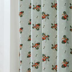 들딸기 커튼(민트)(총130x230cm)
