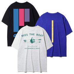 [크루클린] 남녀 공용 여름 오버핏 프린트 반팔 티셔츠 한정수량…(NEWYCKZKZG)