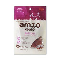 국산 강아지간식 아미오 건강한피부 100g 2개 강아지밥