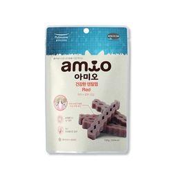국산 강아지간식 아미오 건강한 덴탈껌 레드 100g 2개 개껌