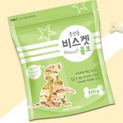 국산 강아지간식 훈련용 비스켓 콤보 300g 2개 강아지밥