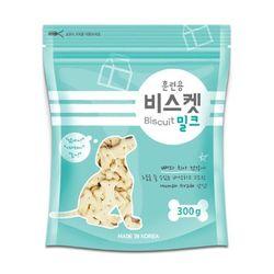 국산 강아지간식 훈련용 비스켓 밀크 300g 2개 강아지밥