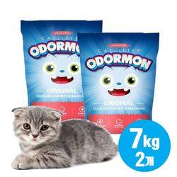 오더몬 벤토나이트 고양이 모래 오리지널 7kgx2개