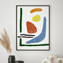 미드 센추리 모던 액자 African mid Composition 캔버스 10호