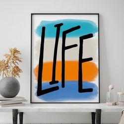 미드 센추리 모던 액자 Life Four Color 메탈 대형