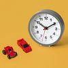 저소음 교육용 시계공부 탁상시계(그레이) 벽시계 겸용