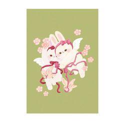 로맨틱핑크 샘스터 봄을 이끄는 천사 일러스트 엽서