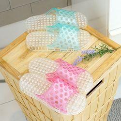 국내생산 튼튼한 PVC 욕실화 샤인 (블루핑크) 2P