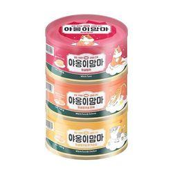 국산 고양이간식 캔 야옹이맘마 3종 160g x 3개 12세트