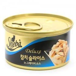 고양이간식 캔 쉬바 참치슬라이스와 그레이비소스 85g 5개