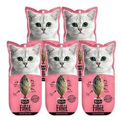 고양이간식 킷캣 프레쉬필렛 고등어 타우린 30g 5개