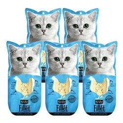 고양이간식 킷캣 프레쉬필렛 닭가슴살 가다랑어 5개