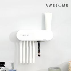 어썸 스텐레스 3단계 UV 살균 건조 시스템 벽걸이형 칫솔 살균기
