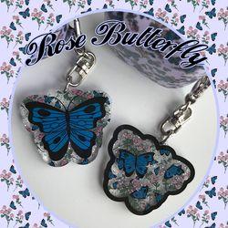 [뮤즈무드] rose butterfly key ring (키링)