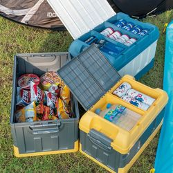 접이식 폴딩 캠핑 박스 캠핑용 아이스박스 수납함NA05