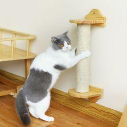 고양이 원목 벽 기둥 스크래쳐 카타르시스