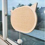 고양이 벽부착 타원형 원목 스크래쳐
