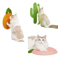 고양이 벽부착 수직 로프 스크래쳐 3종
