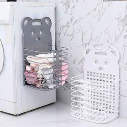 벽걸이 빨래바구니 세탁바구니 접이식 이동식 빨래통