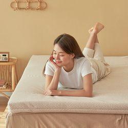 엄마토퍼 메모리폼 매트리스 침대 바닥이불 접이식 슈퍼싱글